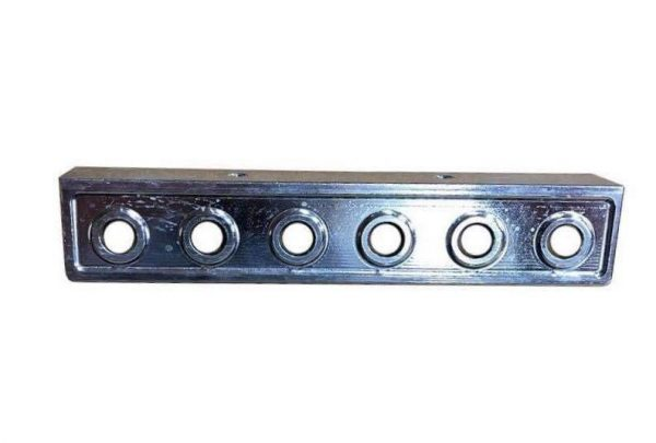 made of steel heavy duty Lowrider Hydraulics 6 hole panel nickel plated